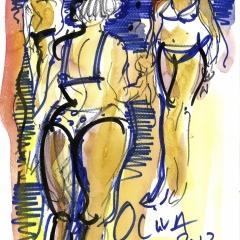 Les femmes en bleu